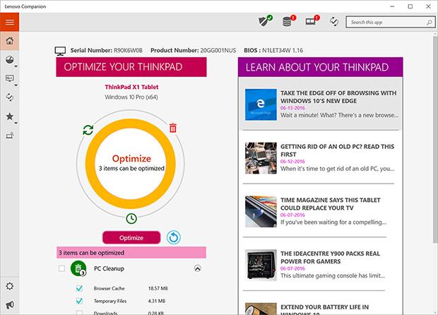 Lenovo ThinkPad X1 Tablet Optimize