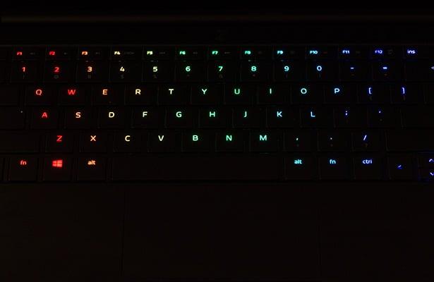 Razer Blade Stealth Backlit Keyboard Dark