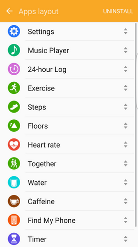 Samsung Gear Fit2 apps