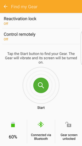 Samsung Gear Fit2 locate