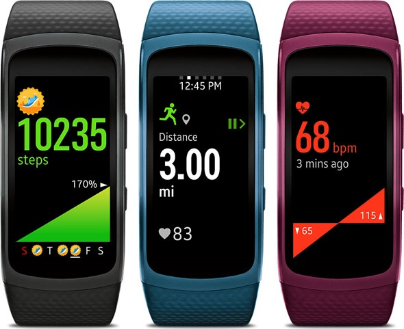 Samsung Gear Fit2 tracking