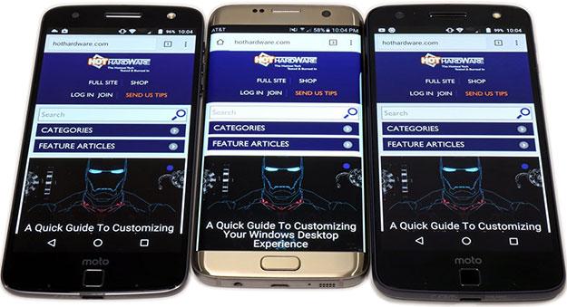 Moto Z Versus Samsung Galaxy S7 Edge