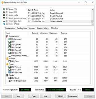 alienware aurora r5 aida64 load temps statistics