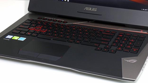 ASUS G752 keyboard trackpad
