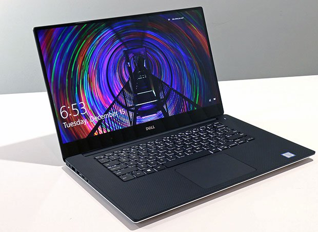 Dell XPS15 front lid open right angle