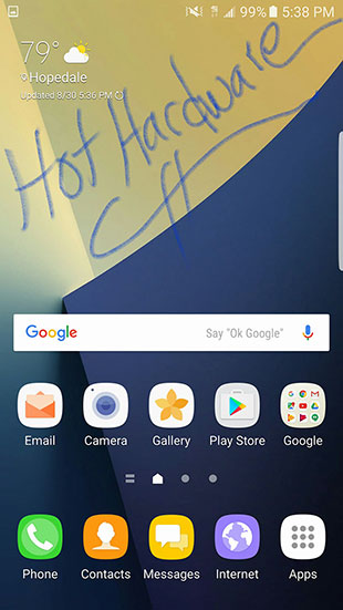 Galaxy Note 7 Home Screens