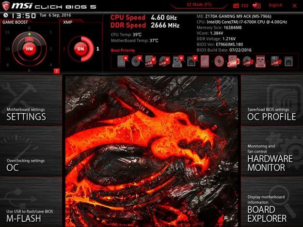 MSI Z170A Gaming M9 ACK BIOS