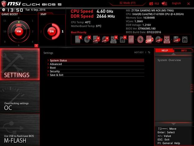 MSI Z170A Gaming M9 ACK BIOS 2