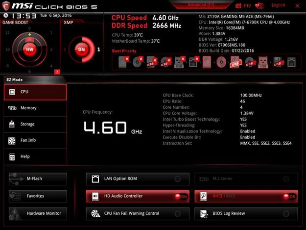 MSI Z170A Gaming M9 ACK BIOS 4