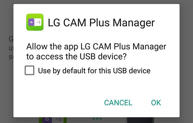 lg g5 cam plus usb access message