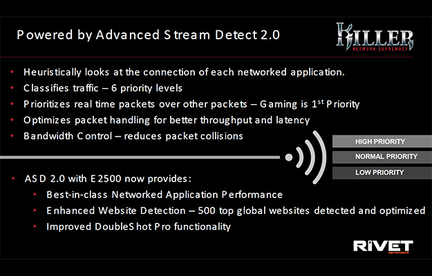 killer e2500 slide adv stream detect 2