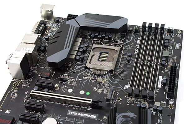 msi z170a gaming m6 upper board