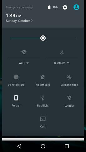 Moto G4 Play settings