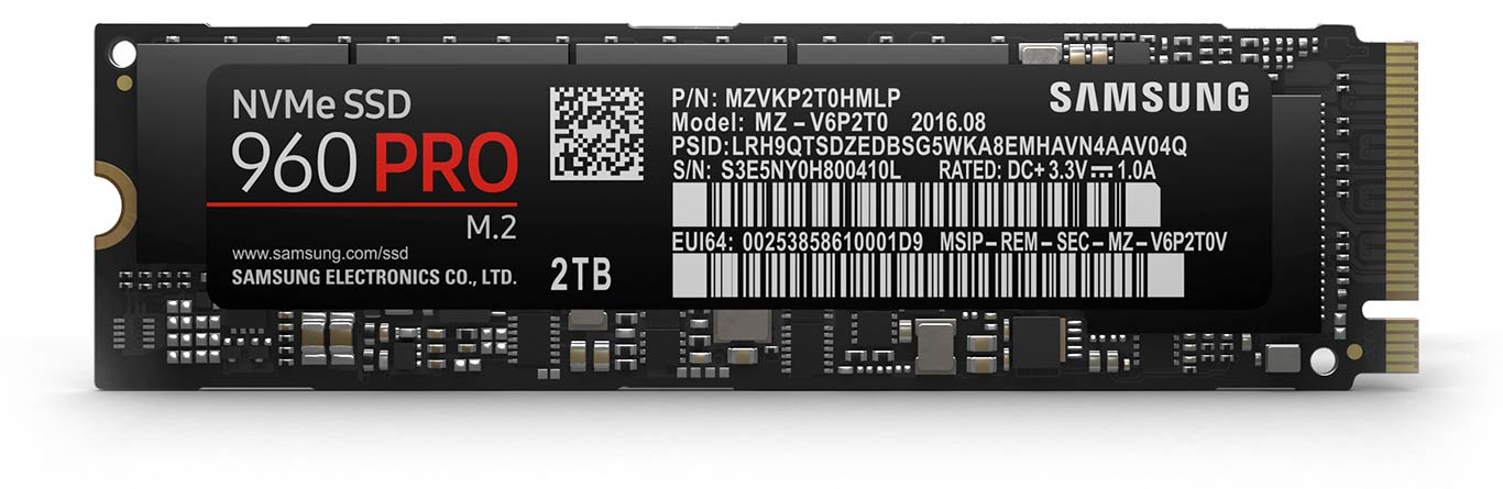 Samsung SSD 960 Pro NVMe M.2 Review: Blazing Fast, Solid State Storage
