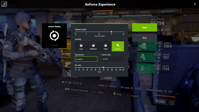 GeForce Experience replay