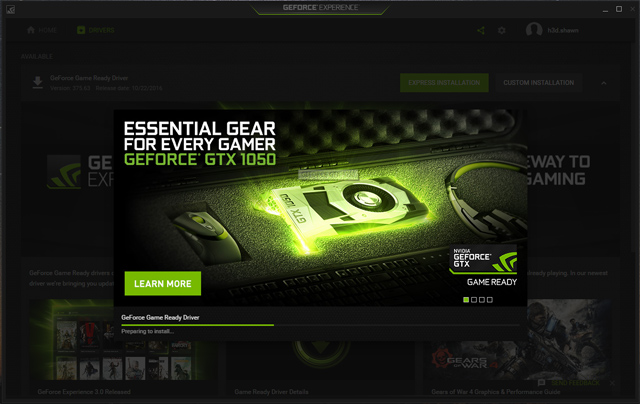 GeForce Experience update