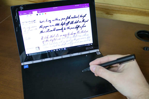 Lenovo Yoga Book With Pen In Hand