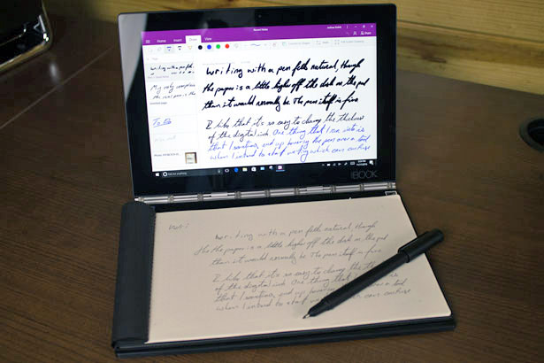 Lenovo Yoga Book With Pen and Paper