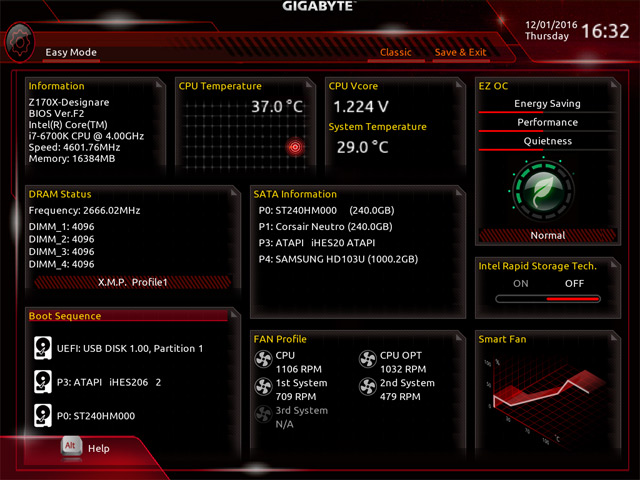 Gigabyte Z170X Designare BIOS1