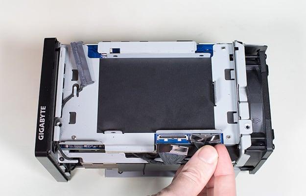 gigabyte brix gaming uhd td ribbon cable removal