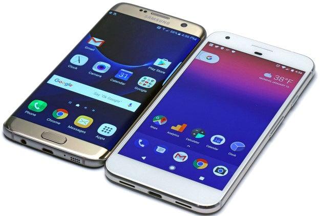Pixel XL Vs Samsung Galaxy S7 Edge front2