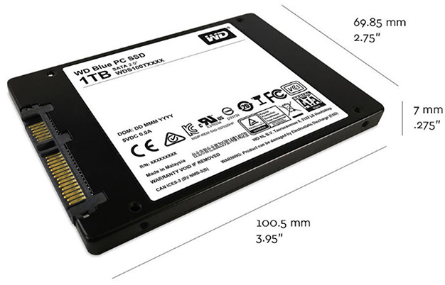 wd blue ssd dimensions