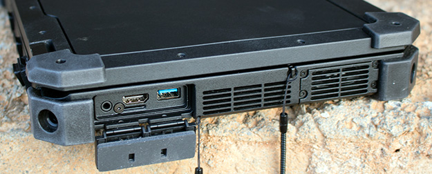 Dell Latitude 12 Rugged Left Ports Open