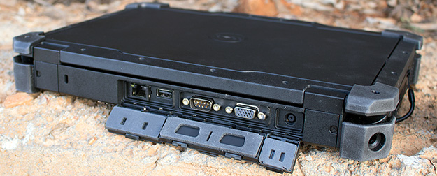 Dell Latitude 12 Rugged Rear Ports Open