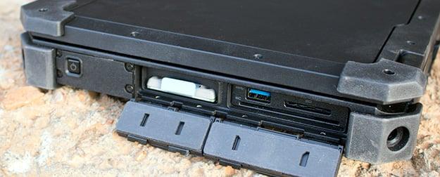 Dell Latitude 12 Rugged Right Ports Open