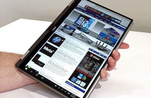 XPS 13 2 in 1 Tablet Mode Portrait