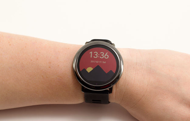 watchface on wrist