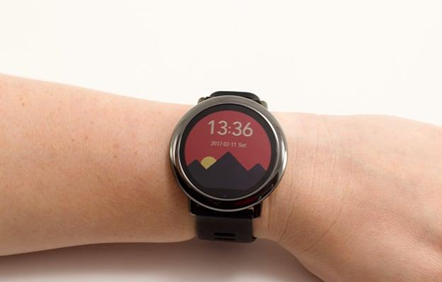 watchface on wrist
