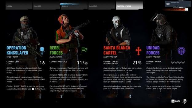Ghost Recon Wildlands choose your alliance