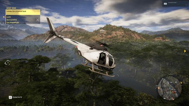 Ghost Recon Wildlands helicopter survelliance