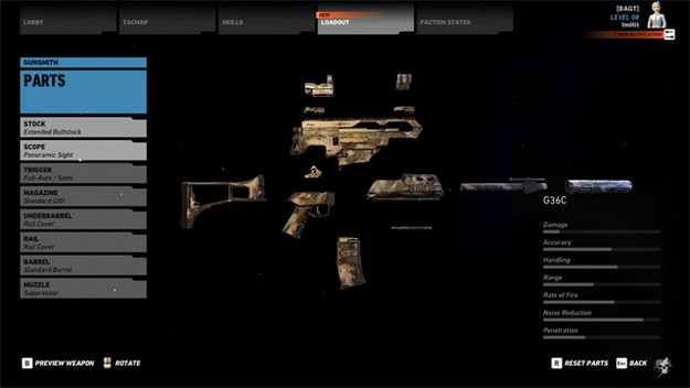 Ghost Recon Wildlands customize your weapons kit