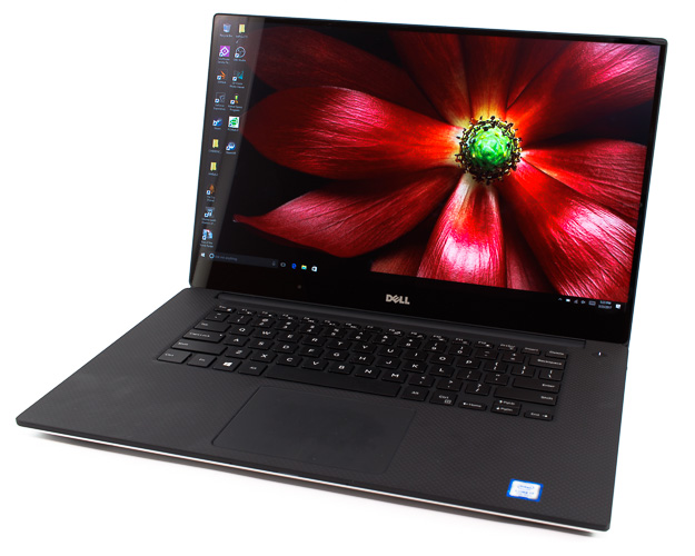 dell xps 15 9560 off angle view close