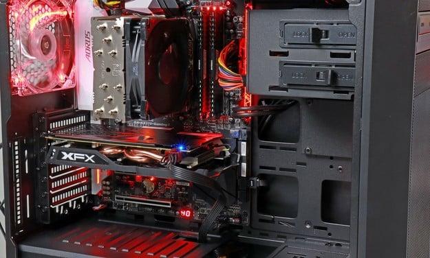 AMD Ryzen CyberPower Gaming PC Side Panel Off