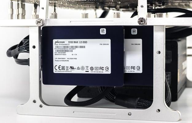 micron 5100 series testbench mounted
