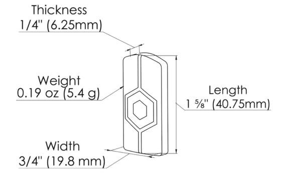 tracker dimensions