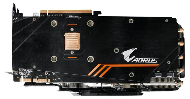 gb aorus 1080 ti back