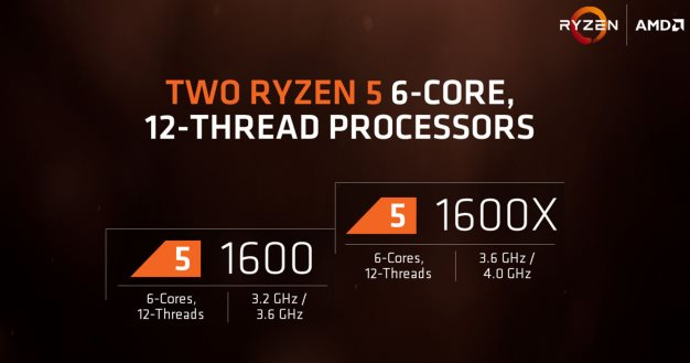 amd ryzen 5 six cores