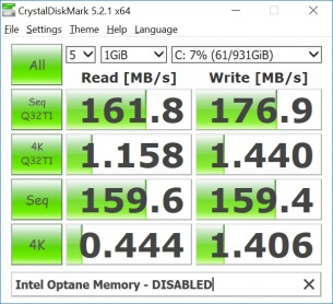 optane memory disabled