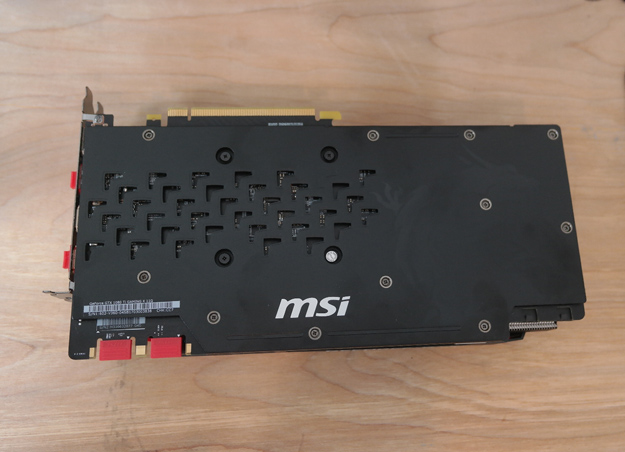 MSI 1080 ti gaming x backplate