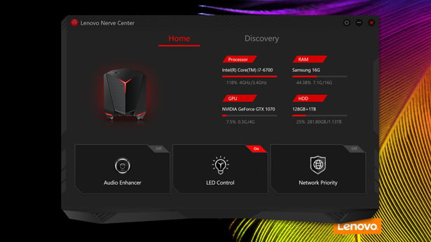 Lenovo IdeaCentre Y710 Cube nerve center 01