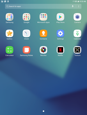 Galaxy Tab S3 apps