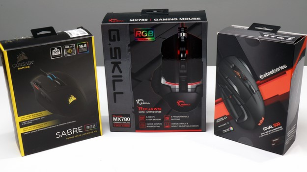 Corsair SteelSeries and GSkil boxes front