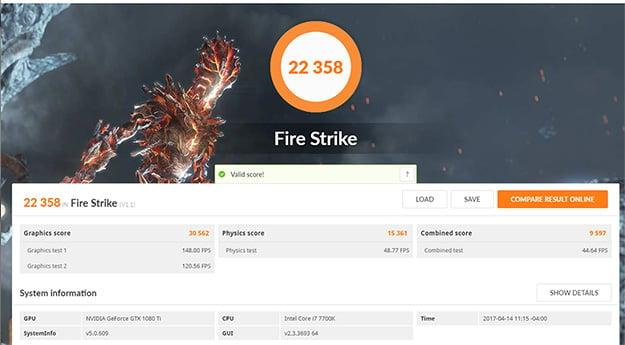 Origin PC Chronos 3DMark Fire Strike