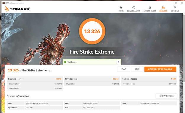 Origin PC Chronos Fire Strike Extreme