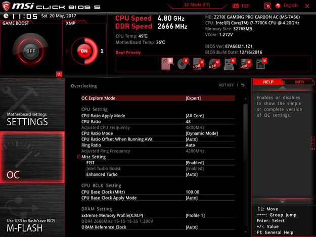 Origin PC Chronos BIOS
