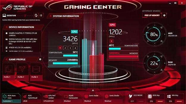 ASUS Zephyrus ROG Gaming Center